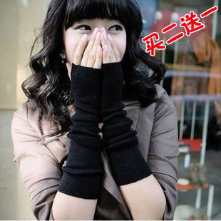 New Korean fashion autumn and winter warm fingerless gloves men and half that arm sleeve cuff cuff