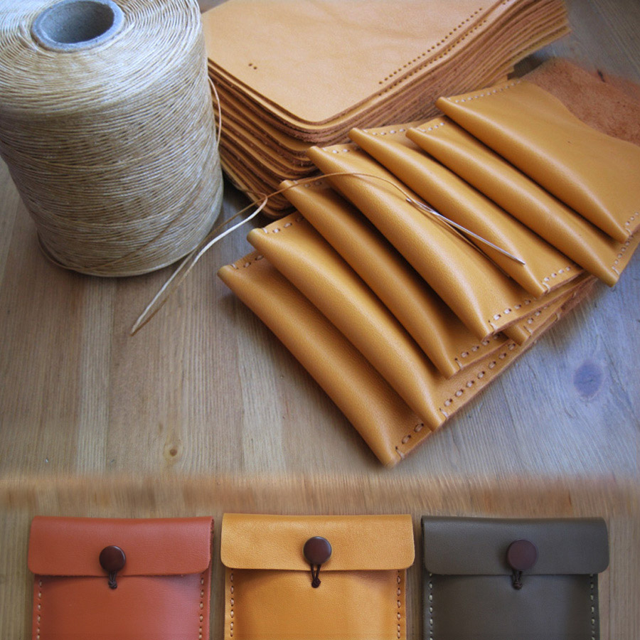 Head leather wallet real leather bag / coin bag small storage bag handmade DIY material bag [free]