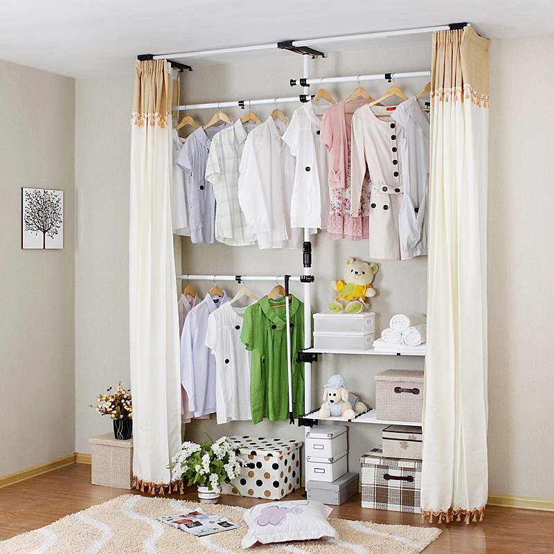 奥阁简易衣柜韩式大号钢架创意家居加粗加固钢管组装布艺衣服柜子