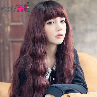 Ms wig female scroll fluffy Qi Liu pear head hair wig lifelike hot corn jiafa
