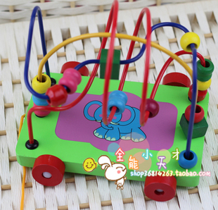 N specials Number intelligence trailer around the bead around the bead toys wooden toys for children educational toys baby toys
