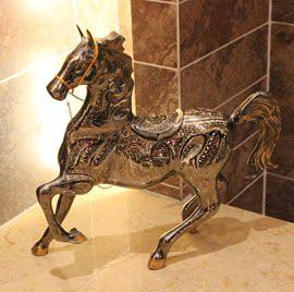 巴基斯坦传统手工艺品 20寸铜雕烈马一马当先 厂家订做直销BT68