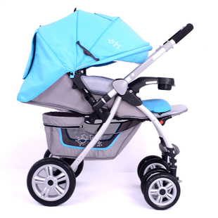 High landscape reclining stroller folded stroller strollers baby strollers four trolley suspension