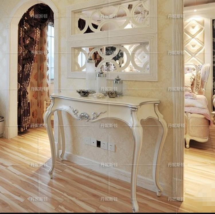 Европейский стиль дверь Входной стол с массивным деревянным залом новый древний классический Корридор полосатый Pawn Hotel Photo Studio Окрашенная мебель белый Случай