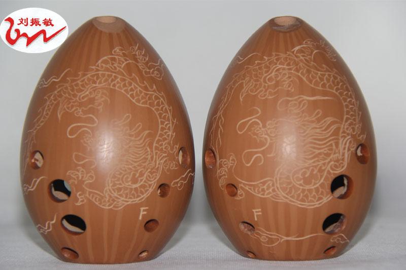 红陶埙专业演奏10孔梨埙左起右起单腔Fg调张科举制西安及其他指法