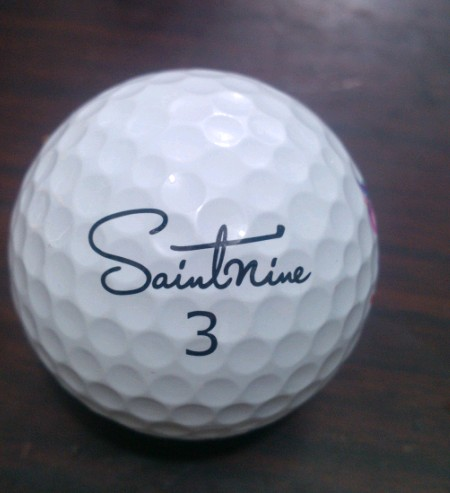 Saint ninem golf brand ball. Golf elastic and soft. Korean golf brand ball