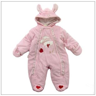 2012 new cotton baby Romper card music than Jerry strawberry super cute rabbit hooded coat Siamese