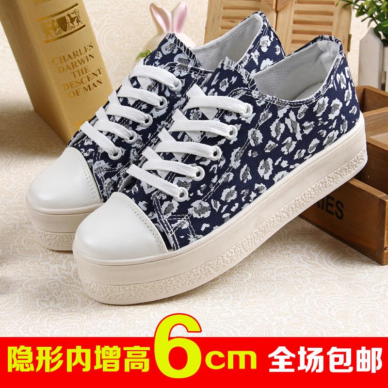 Новая стильная платформа увеличился разрыв цветы холст корейской версии что потоки попадают Студенческая платформа обувь и обувь для отдыха