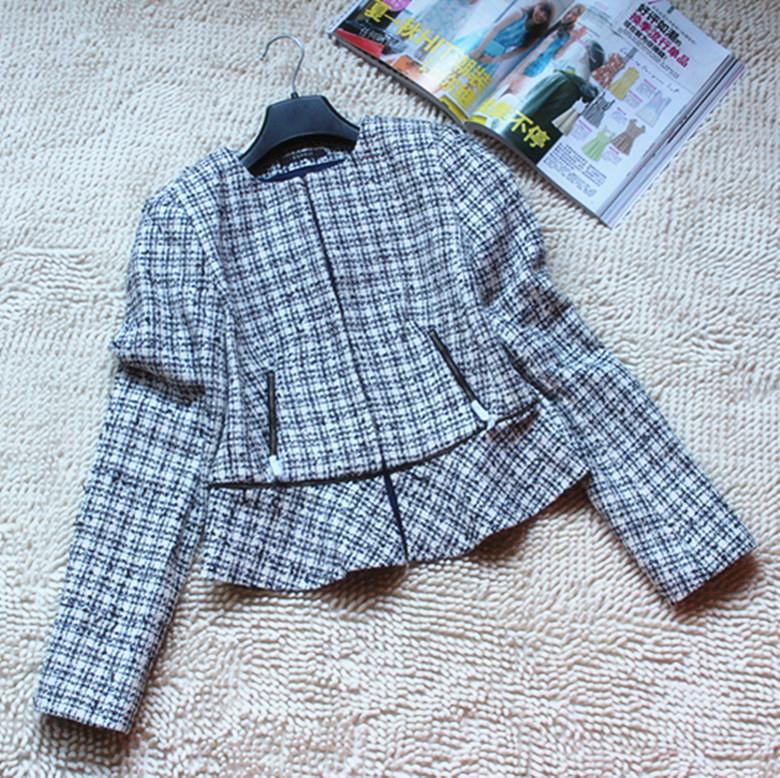 2折专柜同步ESPRIT埃斯普利特女装休闲西服春装外套OL格子UC3020F
