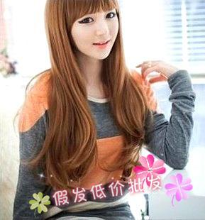 Non mainstream wig wholesale wig long volume fluffy girls with long long hair short pear head