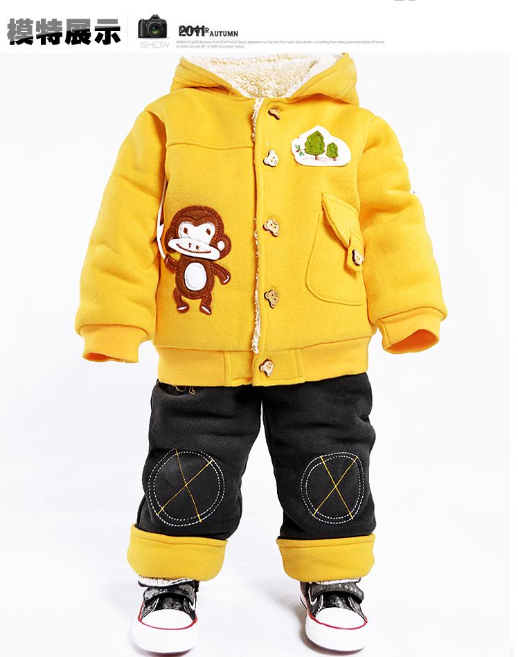 2015 зима новый стиль Детская одежда Одежда подходит для мальчиков ребенка одежду 0-1-2 слоя износа осень/зима