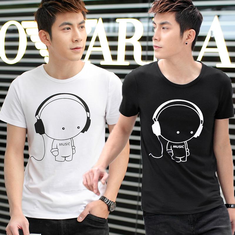 JVR летний мужской весной 2015 новый мужской короткий рукав t в корейской версии мужской футболку мужчины t рубашки в конце прилива