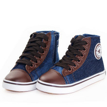 2011 New Shanghai Warrior shoes WZ9030 children canvas shoes denim high top shoes 25 36 yards