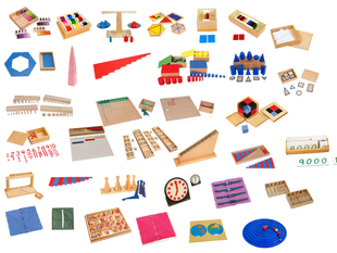 Montessori teaching aids 88 sets montessori Montessori educational Early Learning Toys