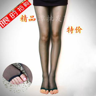 Road mitts original single transparent open toed socks thin pantyhose stockings fish head socks flip