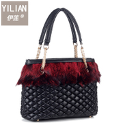 Elaine 2015 mail for Europe and the new woman bag grass fox fur wrapping Crossbody shoulder flashes for fall/winter handbags