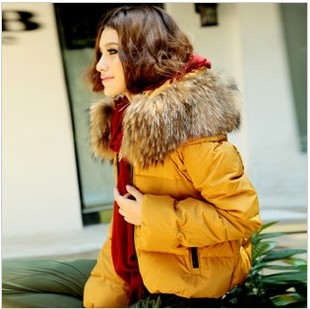 2014 Wong King season models raccoon fur collar collar Slim women short down jacket women genuine clearance