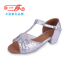 Three Sally Latin dance shoes authentic female adult side of the girls dancing with three sand shoes shoes Sir Athletic shoes