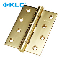 KLC Bright Gold Pure copper hinge hinge Pure Copper door hinge hinge mute hinge bearing loose-leaf monolithic
