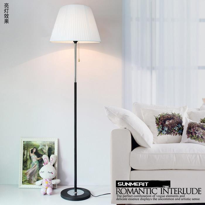 Современный простой гостиная спальня прикроватный свет континентальный творческий ткань декоративный дистанционное управление LED торшер затемнение настольные лампы