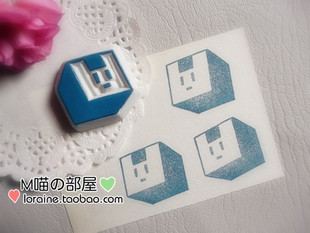 Rubber stamp custom DRAMAtical Murder DMMD Noiz paragraph A rabbit square custom handmade personalized stamp