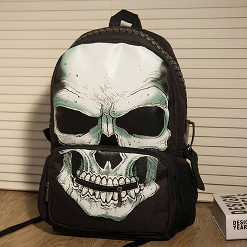 Кампус рюкзак сумки женщин и мужчин SB средней школе средней школы студентов Рюкзаки корейской версии череп символ школы моды прохладно