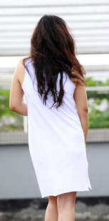 Ju original design models wild simple vest Tage carry goods White Cheap