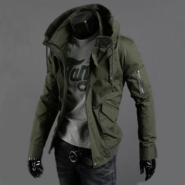 Весной и осенью аутентичные мужчин тонкие тонкий воротник куртки равномерный слой пиджак мужской корейский зеленый отдых одеяние прилив