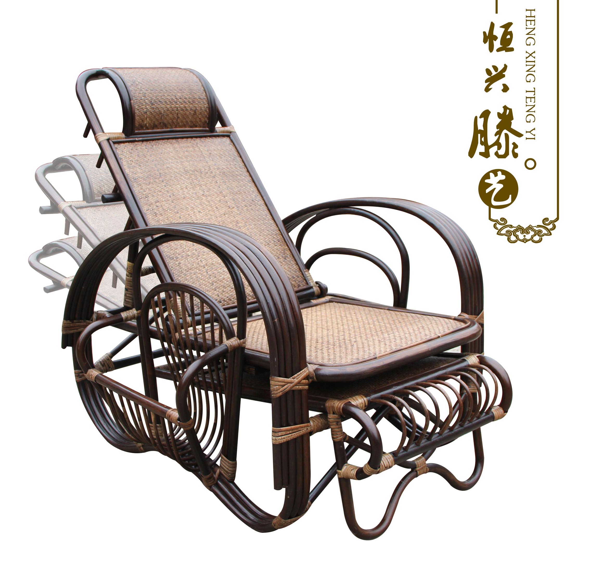 Chaises en rotin pliant chaises pour la sieste de loisirs for Chaise de salon en rotin