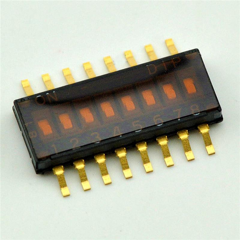 贴片拨动开关 8位 1.27mm拨码开关 编码开关 进口镀金