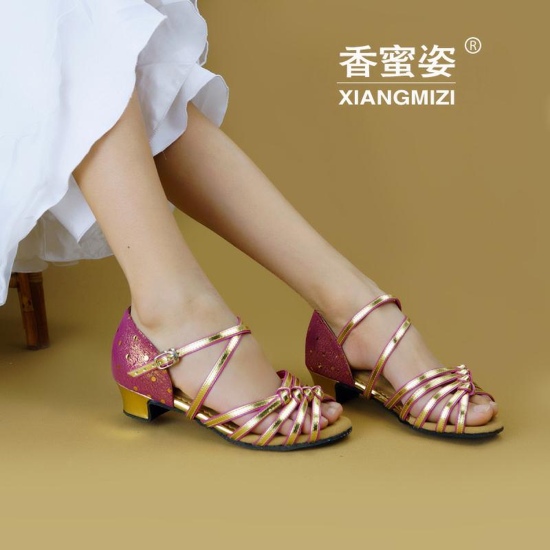 Латинских танцев обувь для девочек Танцы с детской мягкой кожи танца обувь дети обувь сумка mail