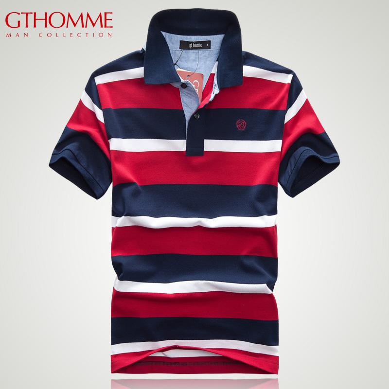 2 128gthomme2013 корейской версии новый мужской рубашки поло мужчин случайные воротник короткий рукав рубашки поло мужские