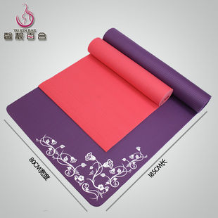 Xin Liang Lily -10mm Yoga mat widening 185CM 80CM lengthened widened thickened fitness mat