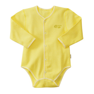 Beibei Yi newborn baby fart clothing Autumn cotton long sleeved triangle Romper climbing clothes baby coveralls 716