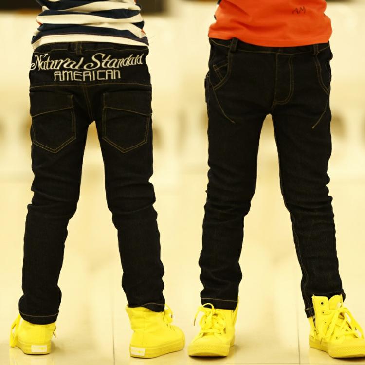 Z ребенка картридж 2015 мальчиков брюки весной Новый корейский мальчик случайных джинсы брюки с связанными ногами внешней торговли n 3-8