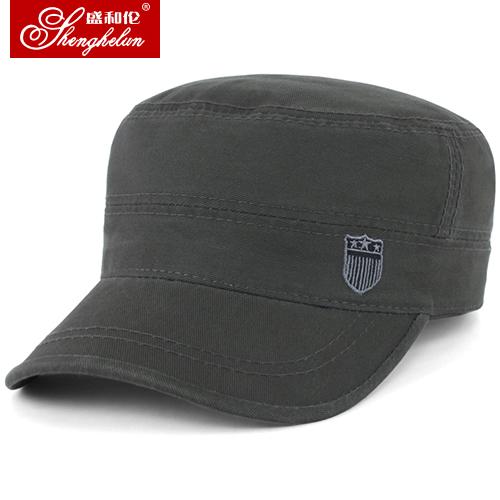 盛和伦男士帽子春秋天平顶帽户外运动棒球帽秋冬韩版潮太阳帽时尚