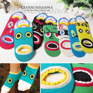 South Korean imports of socks cute cartoon socks boat socks couple models leave two men s socks Creative women s socks pure cotton socks