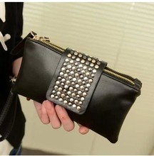 In 2015 the new female bag Han edition rivet bump color candy bag handbag hand bag small bag ladies' handbags