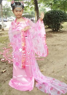 Children s costume costume ethnic Han Chinese clothing costume costumes performance clothing Children dance clothes pink fairy