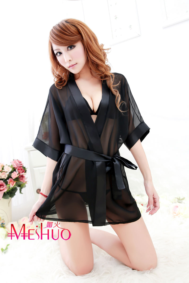 Летом дамы Сексуальное белье ночная рубашка черный прозрачный женское белье кружева плюс размер халата одеяние прекрасный люкс искушения