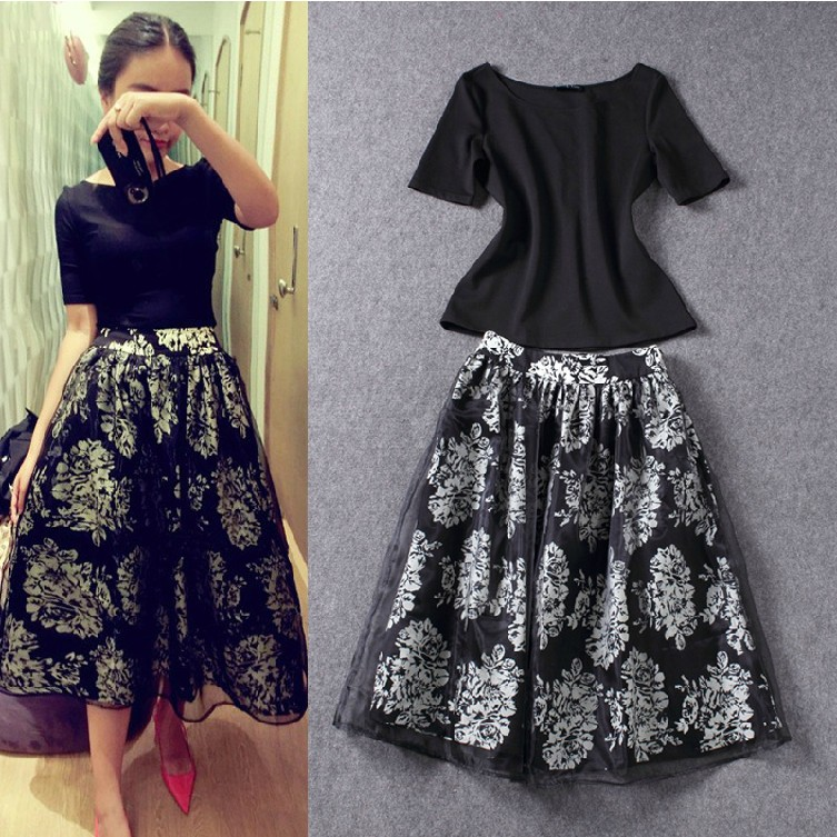 к 2015 году новых женщин высокой талией slim бюст длинные юбки и положить длинные пачки органзы юбка костюм