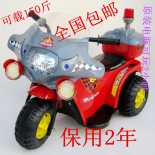 New Year baby child electric car motorcycle electric car battery car three toy car police car interior can seat