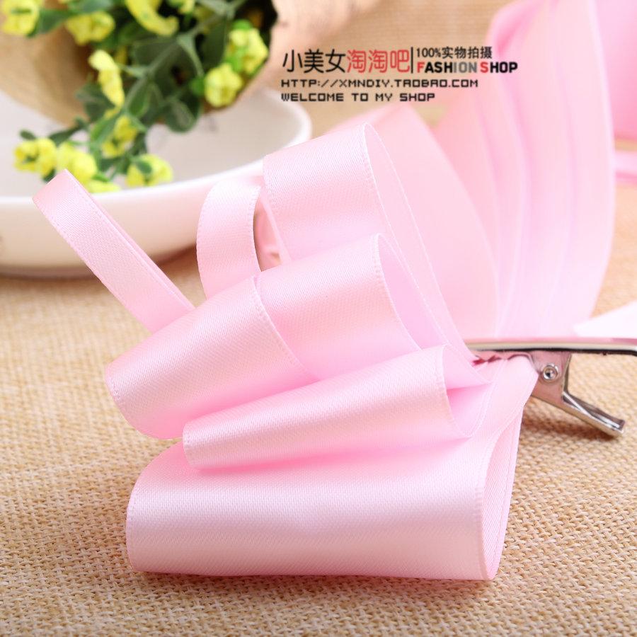 新款特价 123粉红色 双面丝带 姚明涤纶缎带彩带包装带 DIY发饰