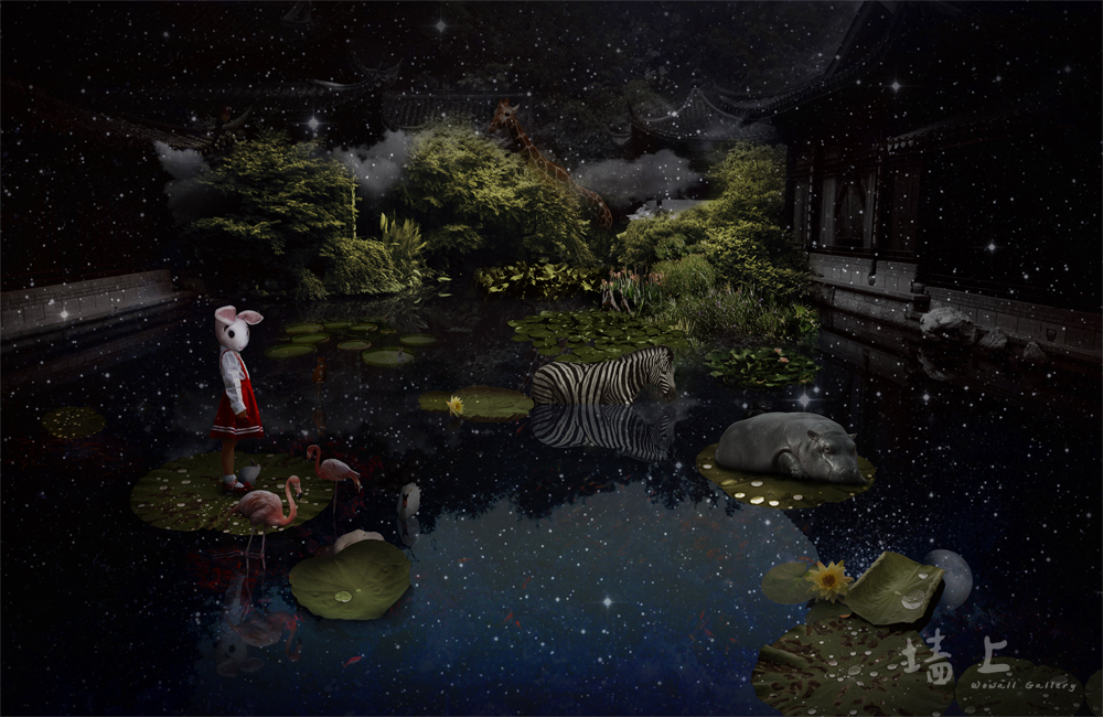 Wall art, contemporary art, creative decoration and painting: A Midsummer Night Dream
