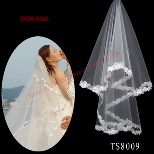 Veil bridal veil wedding accessories new wedding veil bridal veil single layer veil accessories 8009