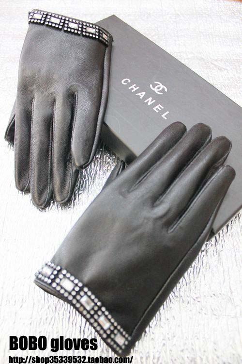 Европейские и американские тенденции подражать Алмазный короткие кожаные перчатки женские перчатки 8-цвет, размер 5