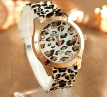 The European and American fashion watches foreign trade South Korea fashion male ms jelly silicone with leopard grain in neutral table wholesale price