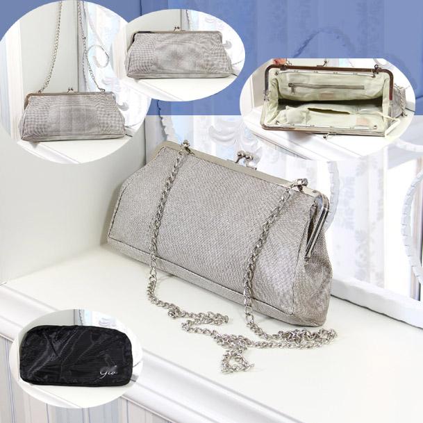 Clearance metal texture silver European and American fashion chain Hand Bag Messenger Bag single shoulder bag mirror LED light womens bag