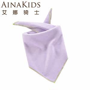 艾娜骑士 超细摇粒绒 三角口水巾宝宝三角巾宝宝口水巾 单条装