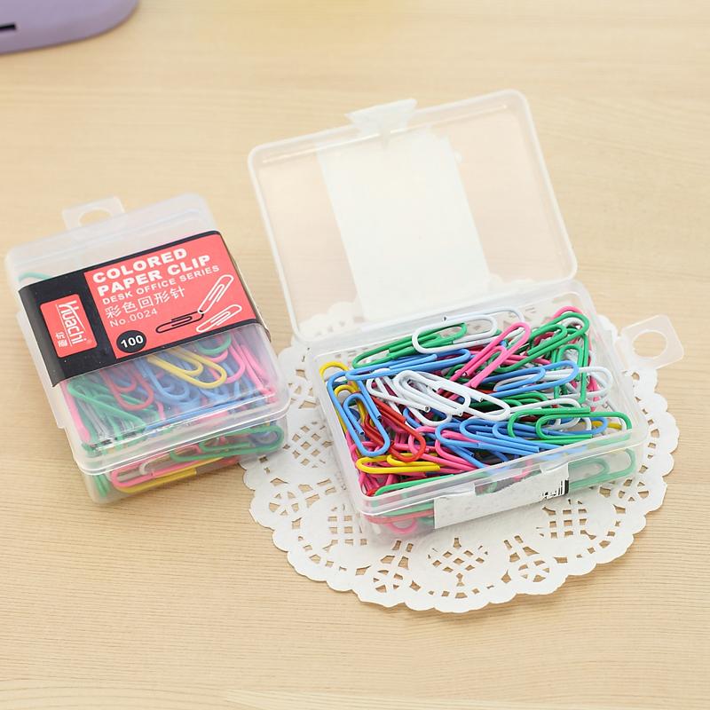 Корейский Креативные офисные принадлежности разноцветный Многоцветная милая форма стрелка Эйфелева башня в коробке 100 штук оптовые продажи